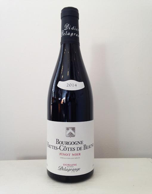 Bourgogne hautes cotes de beaune pinot noir 2014 for Haute cote de beaune
